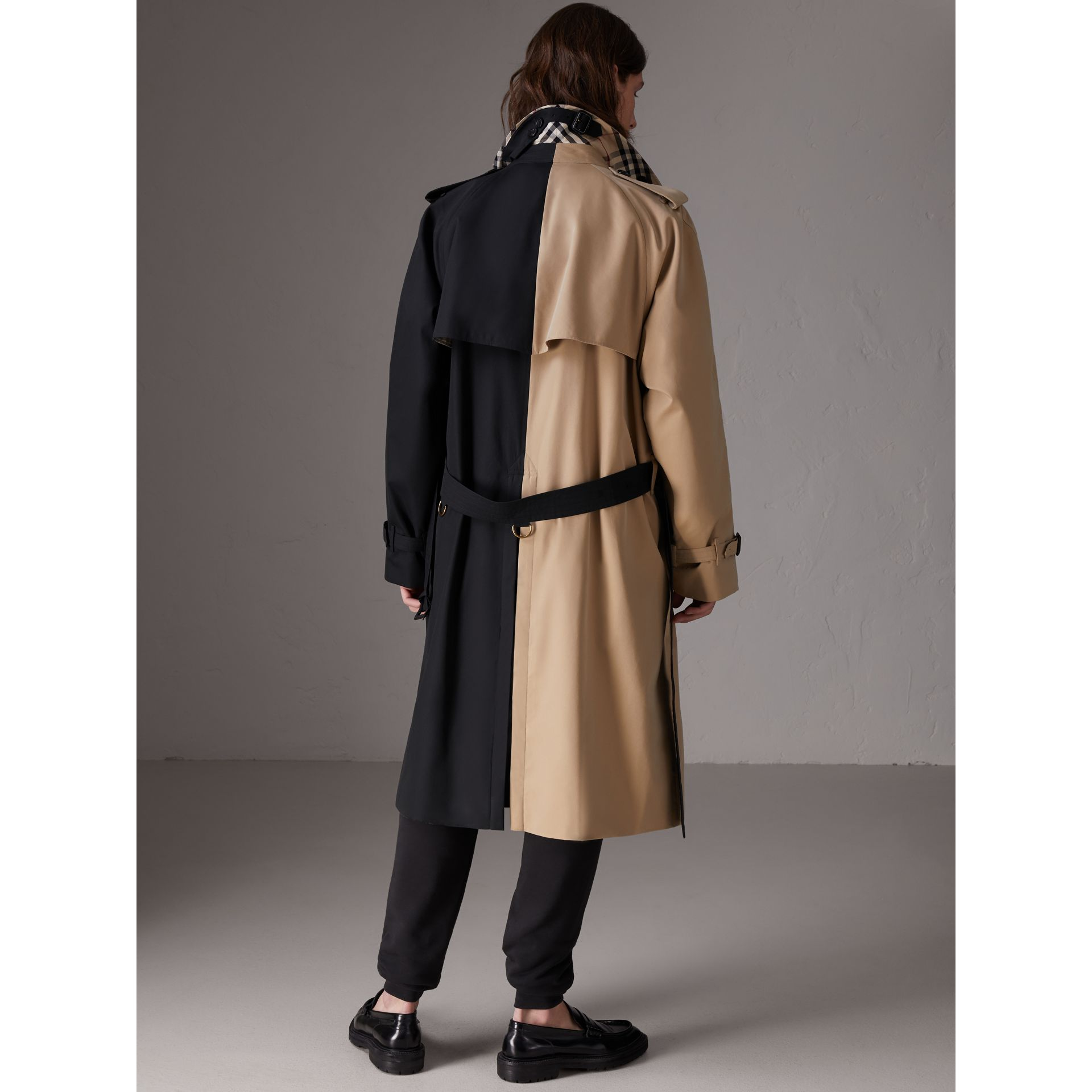 Gosha x Burberry Two-tone Trench Coat in Honey - Men | Burberry United States - gallery image 2