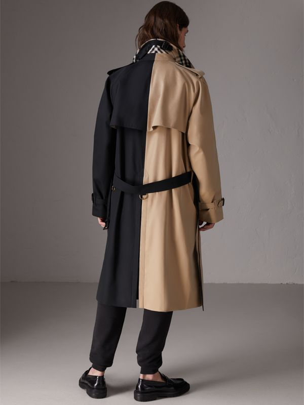 Gosha x Burberry Two-tone Trench Coat in Honey - Men | Burberry United States - cell image 2