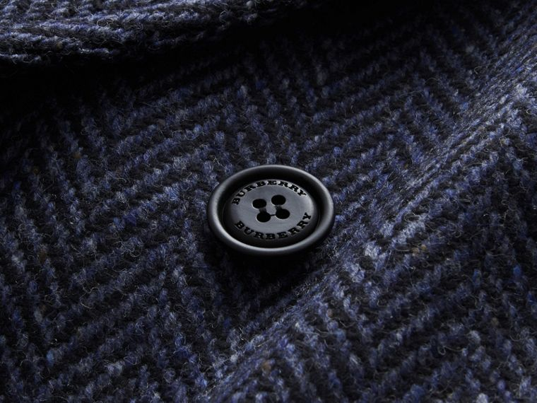 Donegal Herringbone Wool Tweed Topcoat - cell image 1