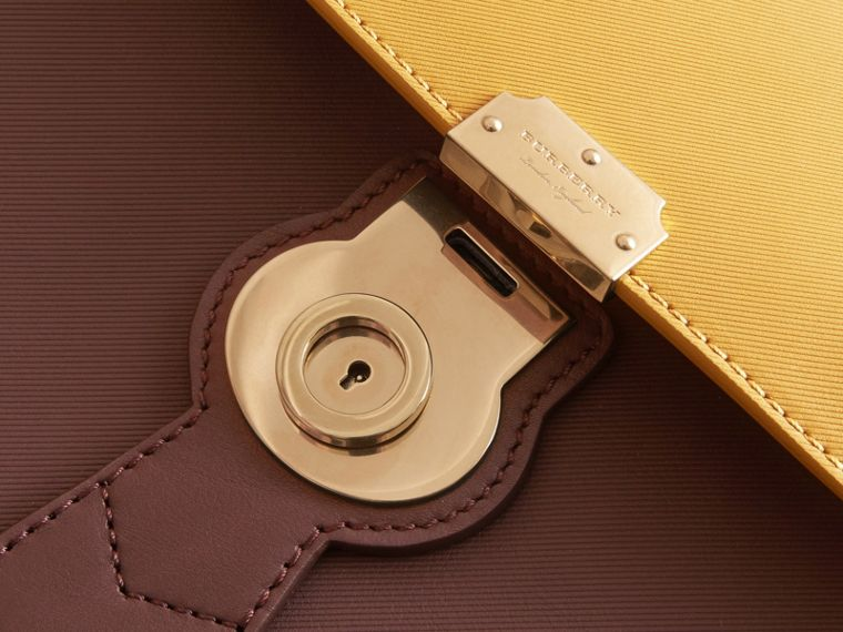 The Medium DK88 Top Handle Bag Dark Chocolate/ochre Yellow - cell image 1