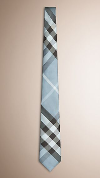 Modern Cut Check Silk Tie