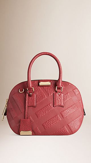 The Small Orchard in Embossed Check Leather Peony Rose