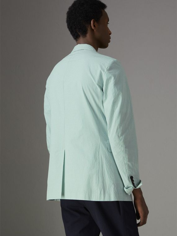 Slim Fit Gingham Cotton Tailored Jacket in Pale Opal - Men | Burberry - cell image 2