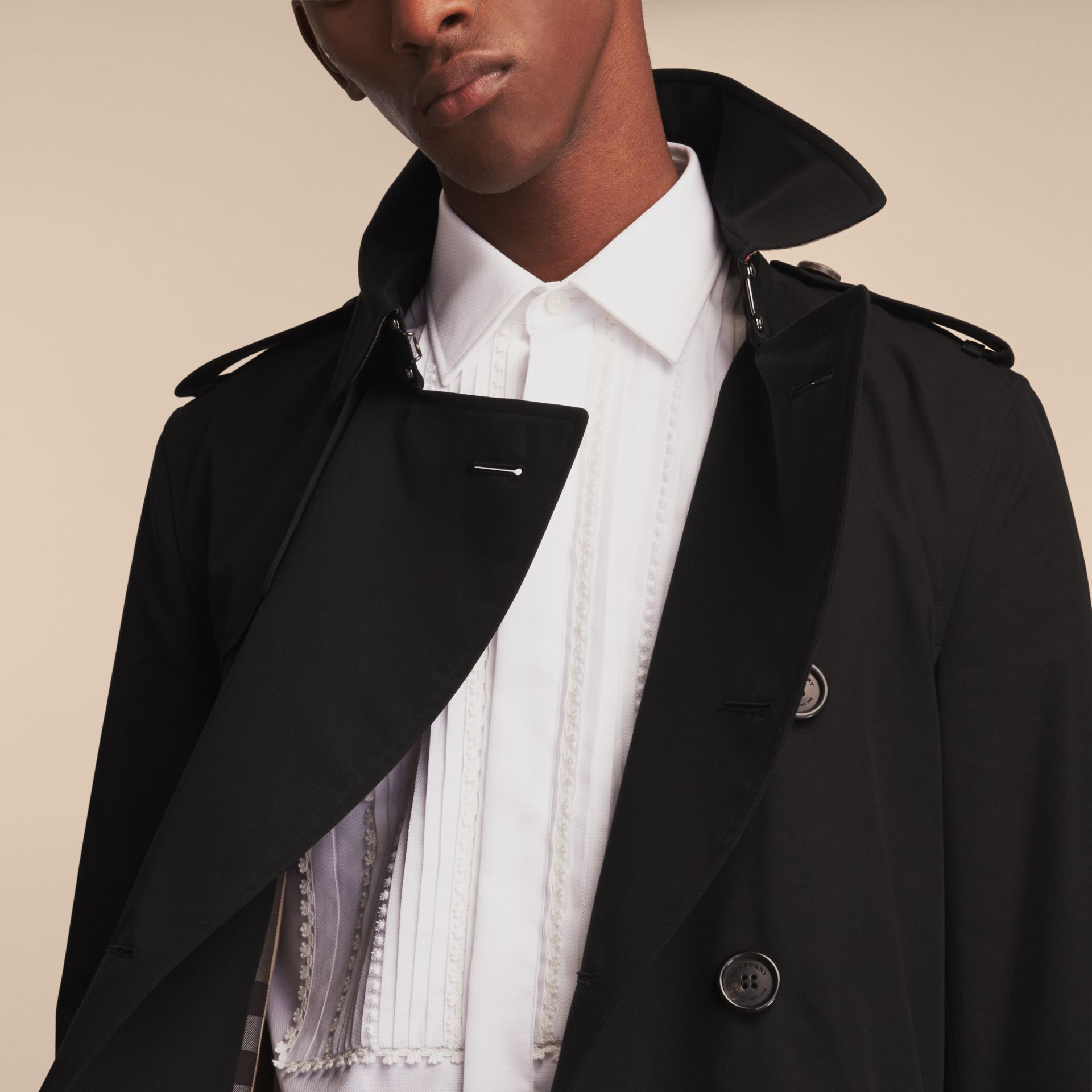 Black The Sandringham – Mid-length Heritage Trench Coat Black - gallery image 11