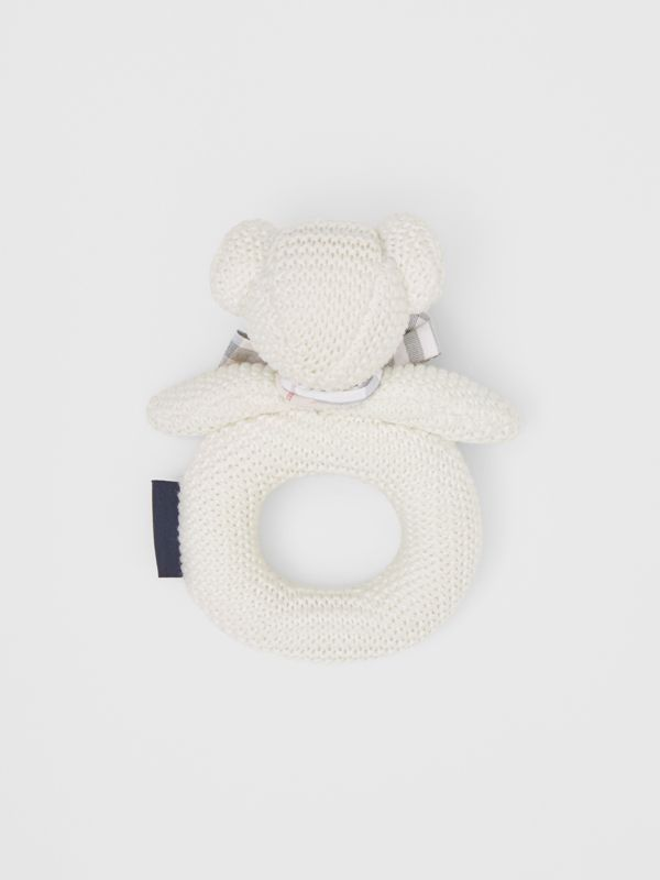 Thomas Bear Cotton Rattle in Ivory - Children | Burberry - cell image 2