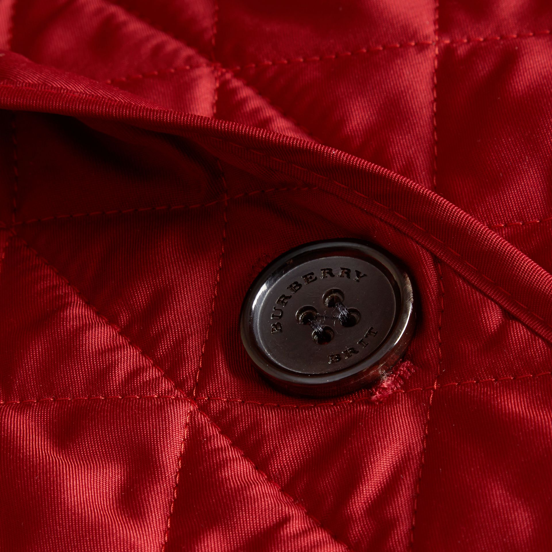 Diamond Quilted Jacket in Parade Red - gallery image 2