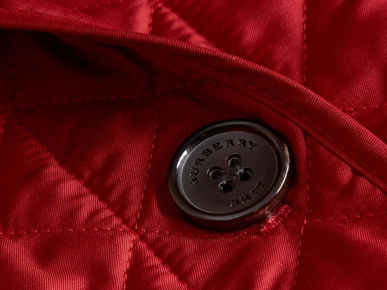 Diamond Quilted Jacket in Parade Red - cell image 1