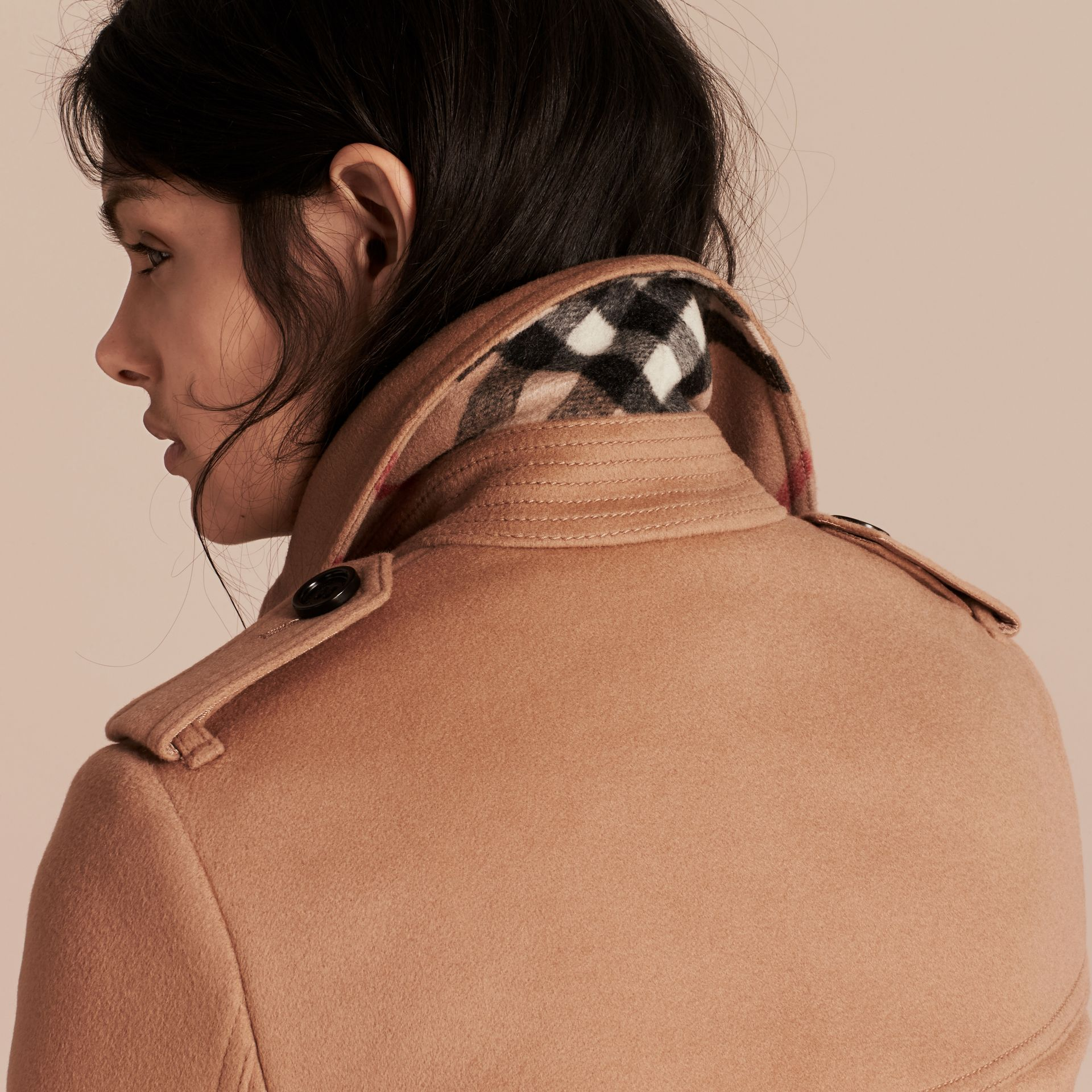 Wool Cashmere Trench Coat in Camel - Women | Burberry Canada - gallery image 5
