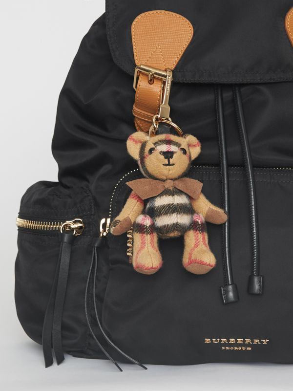 Thomas Bear Charm in Vintage Check Cashmere in Antique Yellow | Burberry United States - cell image 2