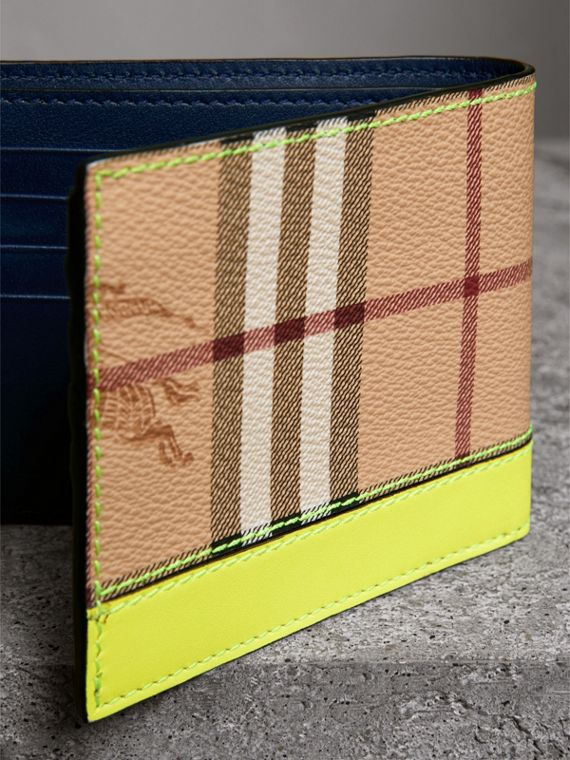 Haymarket Check International Bifold Wallet in Bright Yellow - Men | Burberry - cell image 2