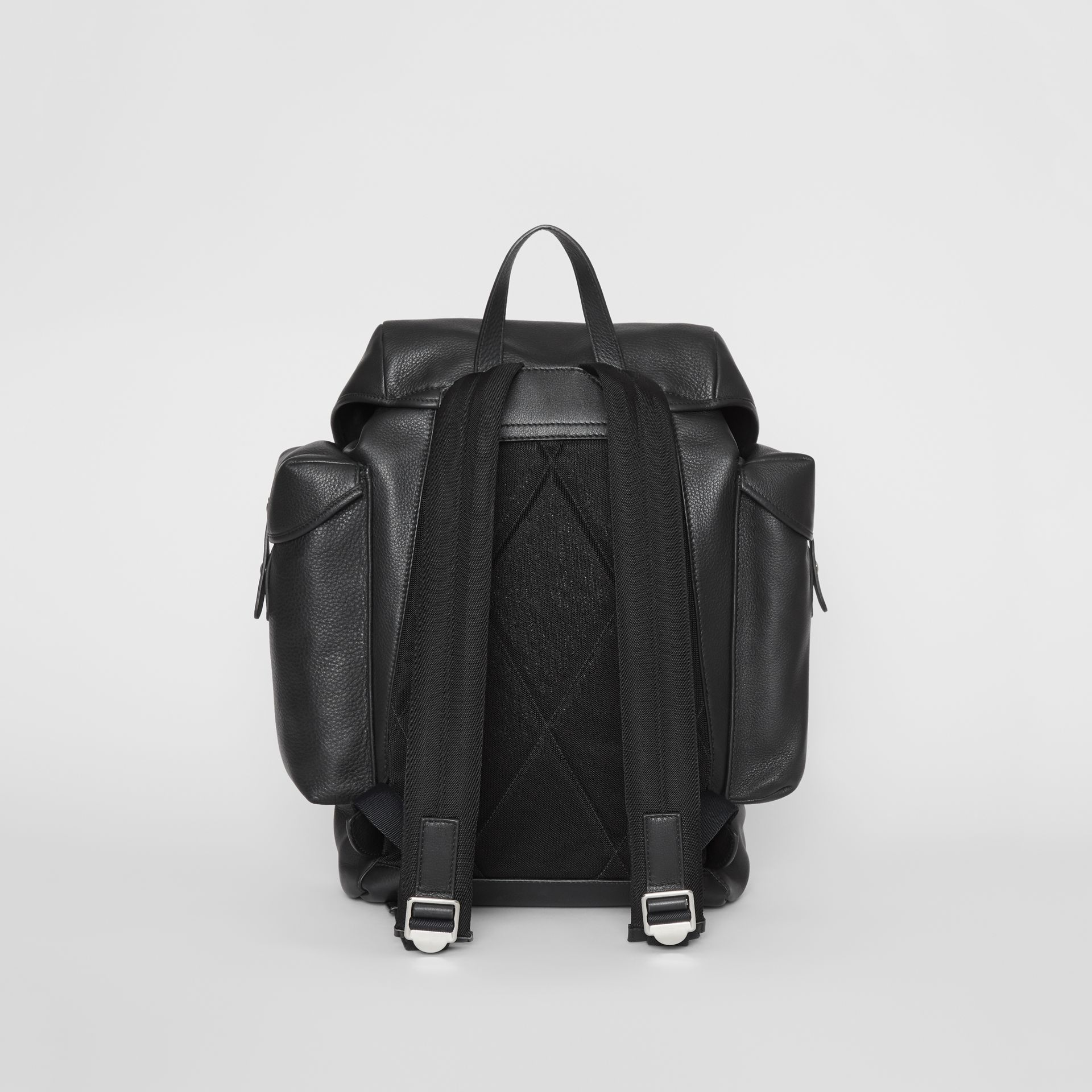 Grainy Leather Backpack in Black - Men | Burberry - gallery image 5
