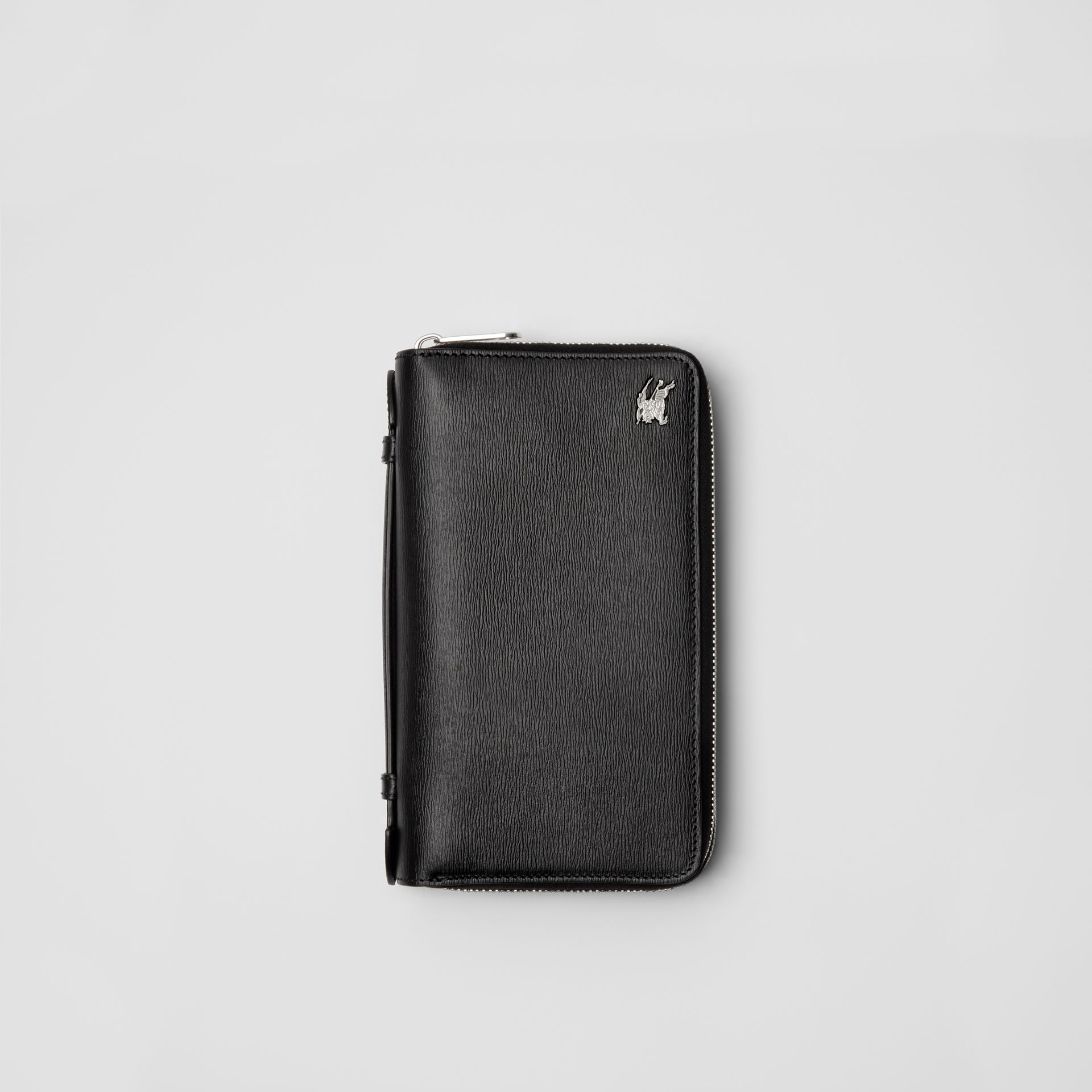 Leather Travel Wallet in Black - Men | Burberry - gallery image 0