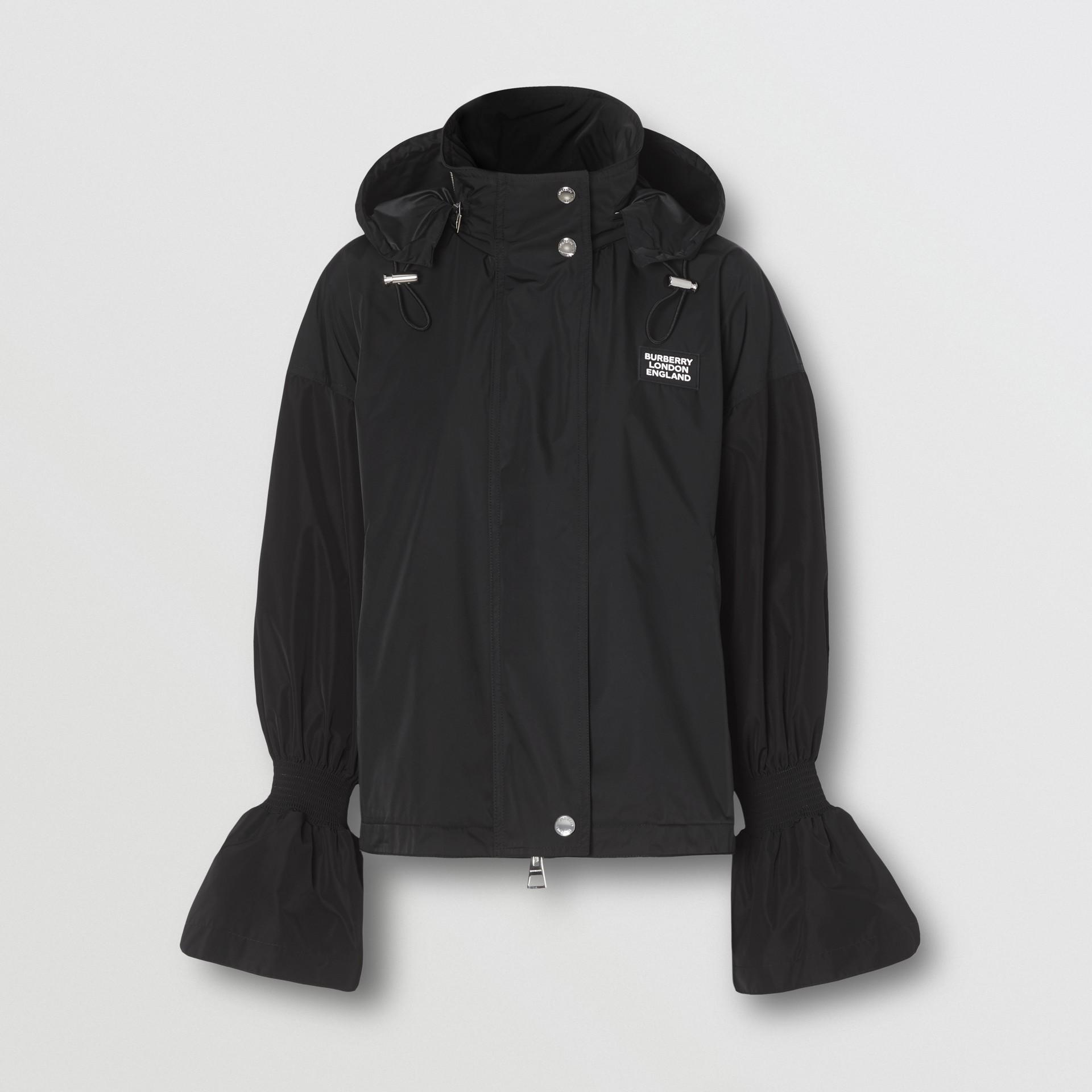 Packaway Hood Bio-based Nylon Jacket in Black - Women | Burberry - gallery image 3