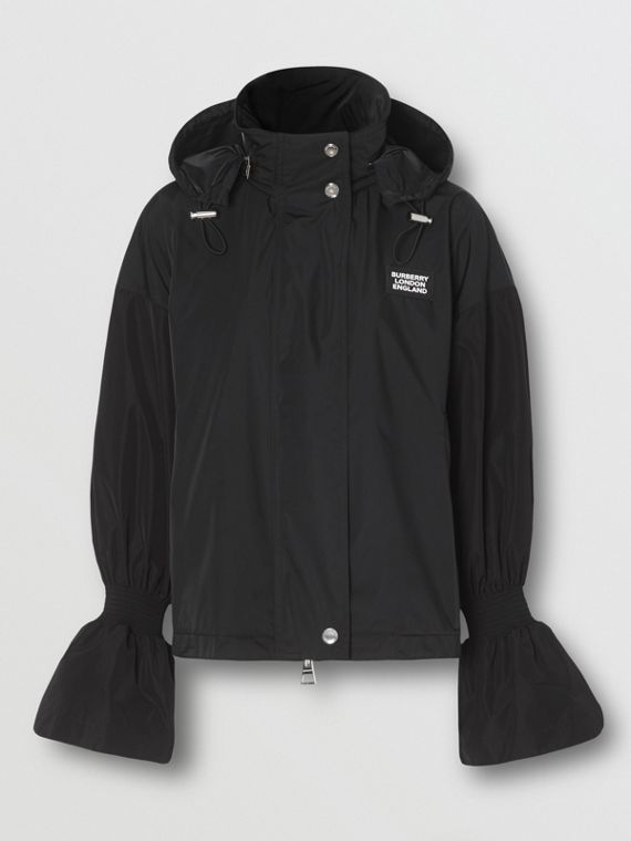 Packaway Hood Bio-based Nylon Jacket in Black