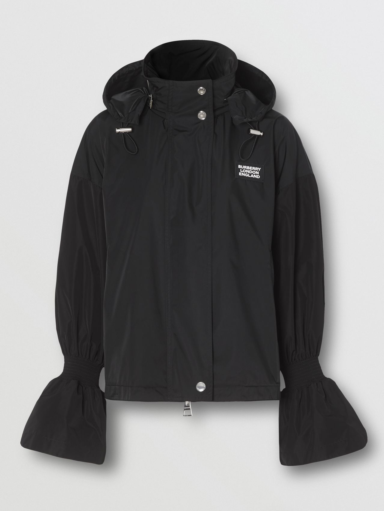 Packaway Hood Bio-based Nylon Jacket (Black)