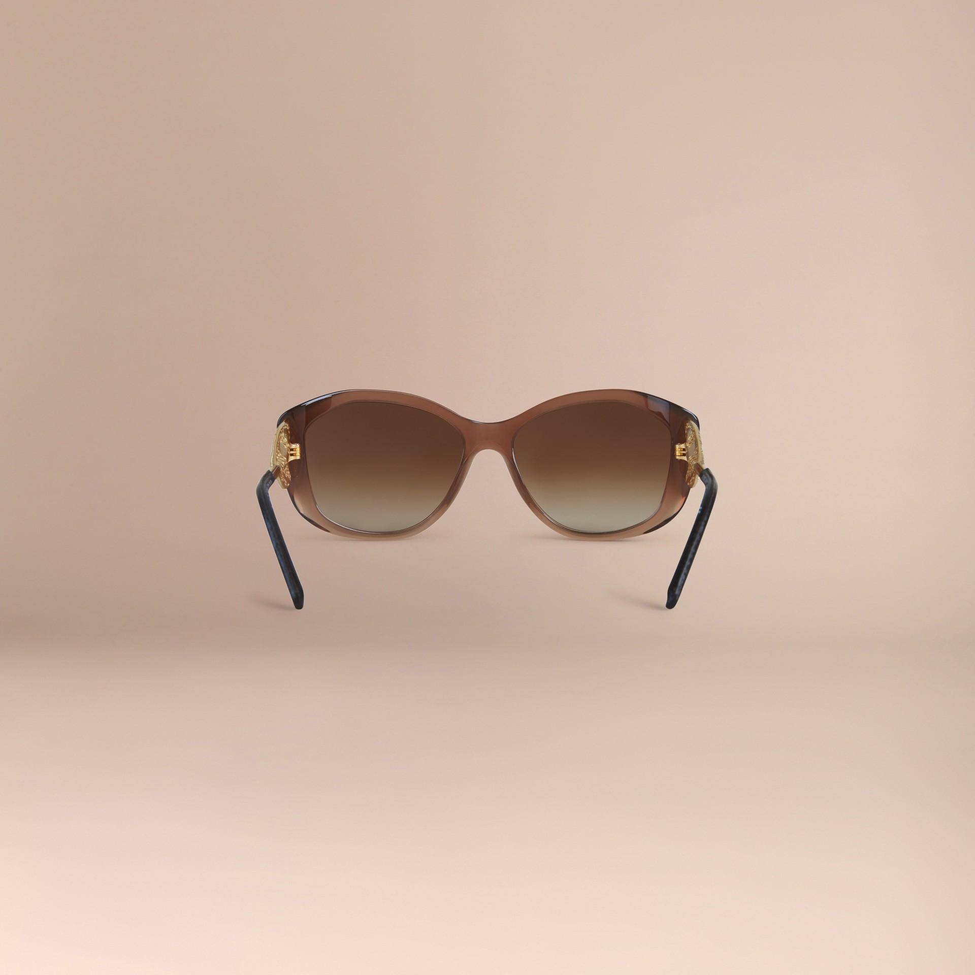Ambra scuro Occhiali da sole con montatura quadrata collezione Gabardine Ambra Scuro - immagine della galleria 4