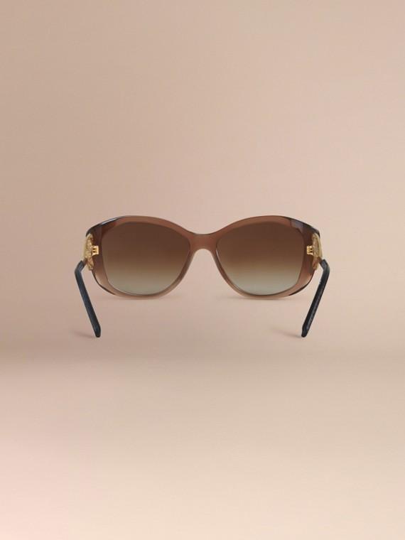 Ambra scuro Occhiali da sole con montatura quadrata collezione Gabardine Ambra Scuro - cell image 3