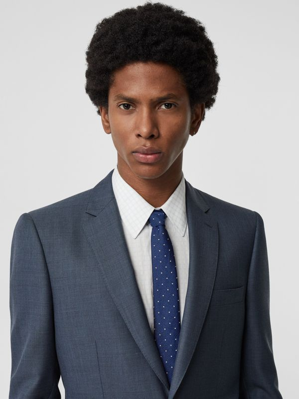 Modern Cut Pin Dot Silk Tie in Azure Blue - Men | Burberry Singapore - cell image 2