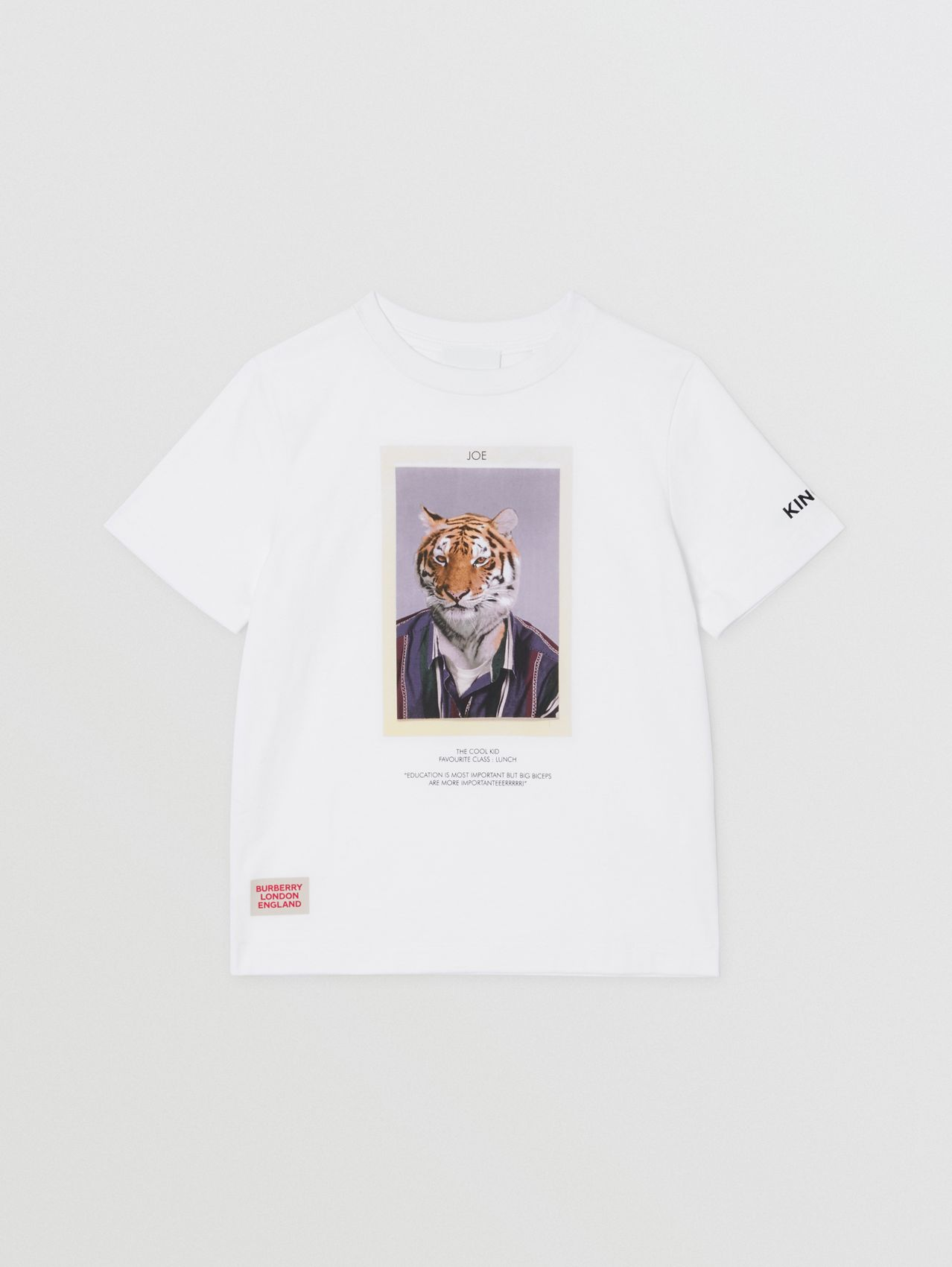Character Print Cotton T-shirt (White)