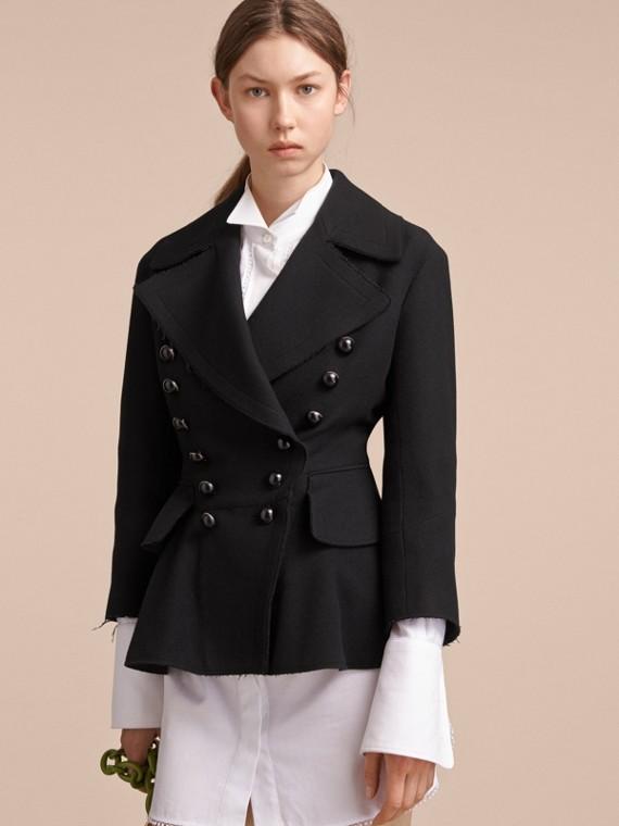 Wool Blend Peplum Jacket