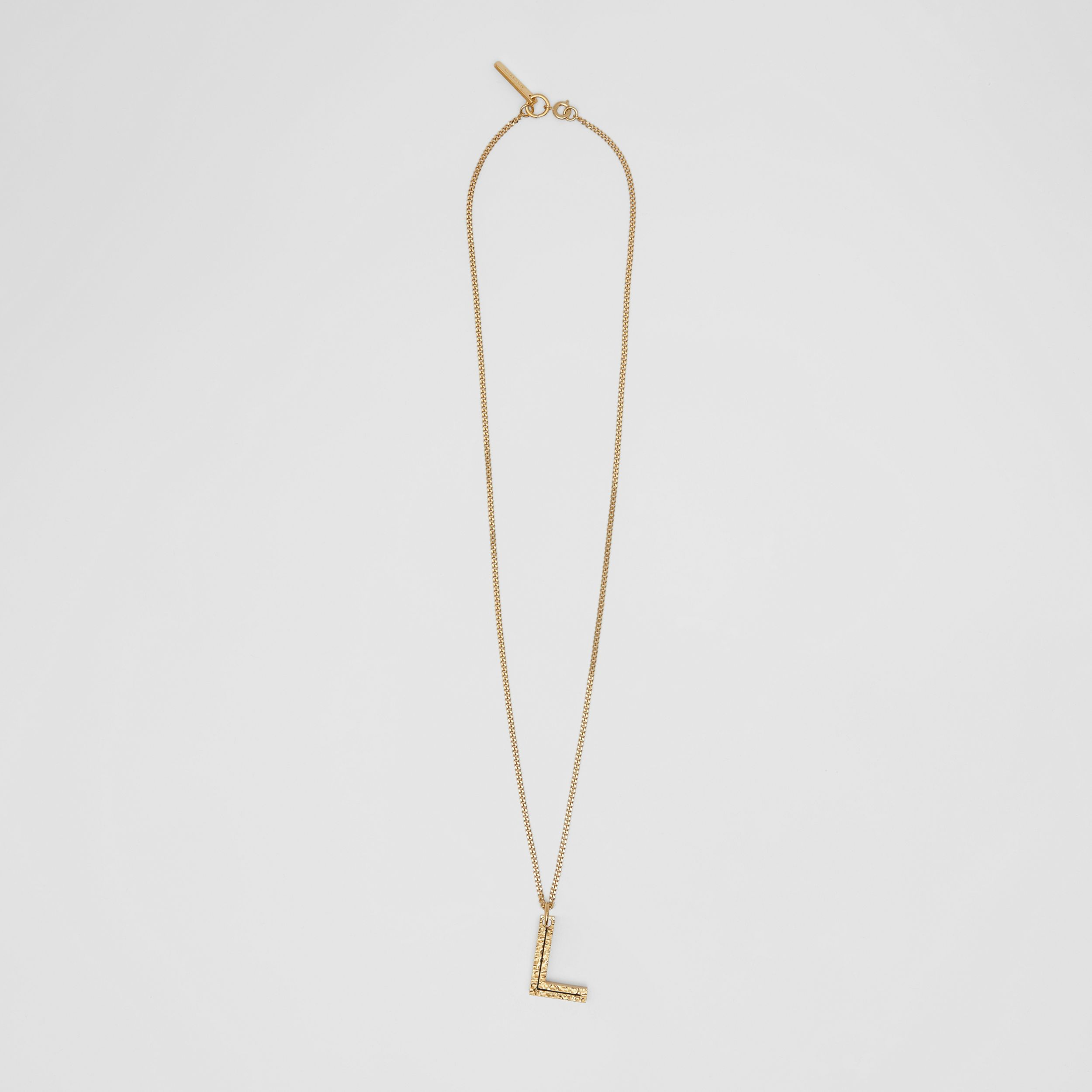 'L' Alphabet Charm Gold-plated Necklace in Light - Women | Burberry - 1