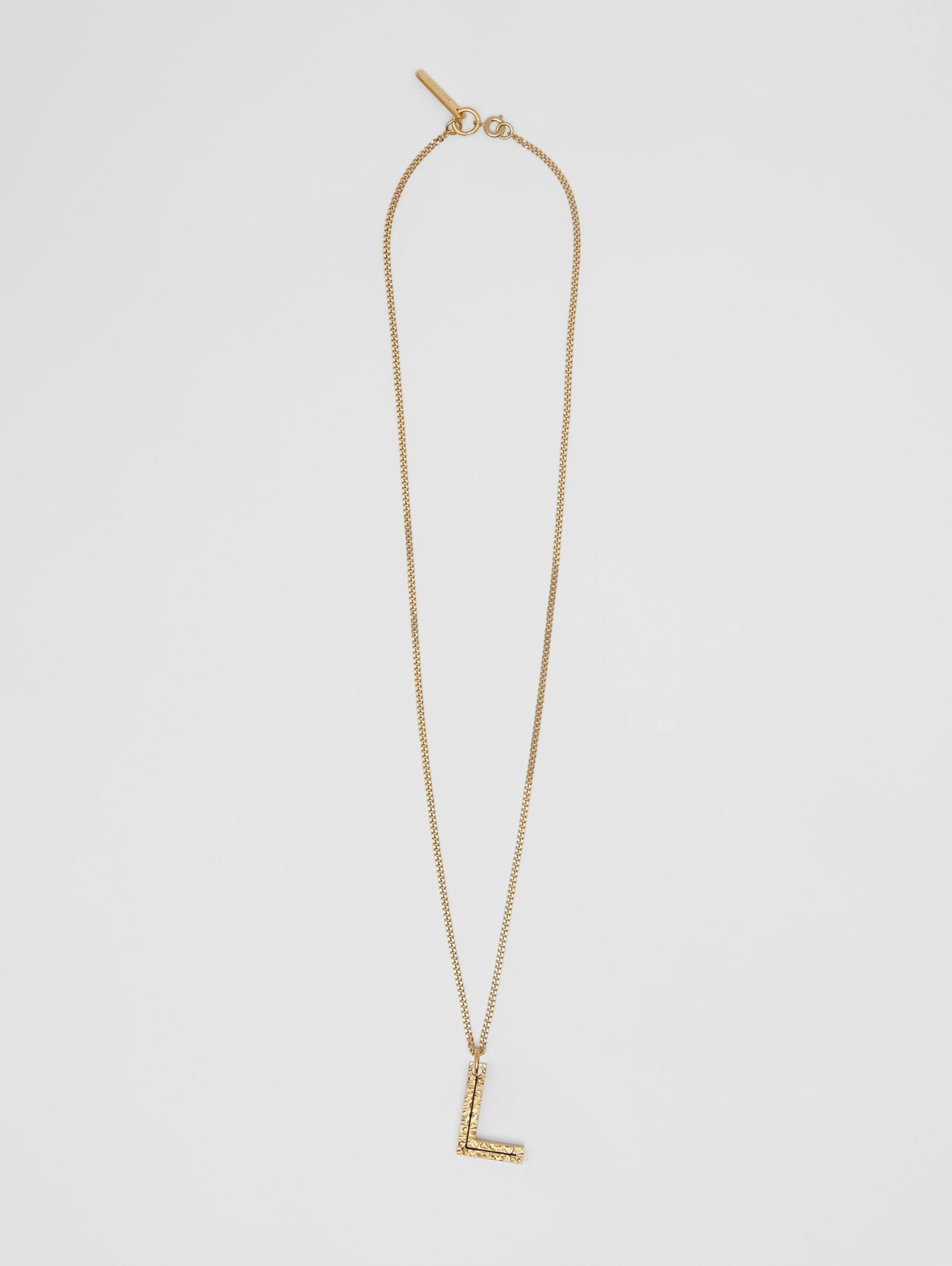 'L' Alphabet Charm Gold-plated Necklace in Light