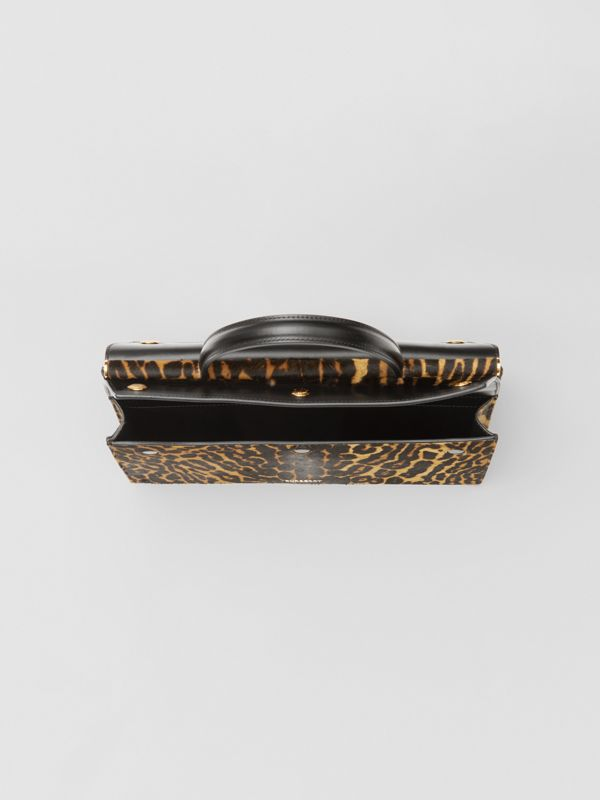 Small Leopard Print Title Bag with Pocket Detail in Black - Women | Burberry United Kingdom - cell image 3