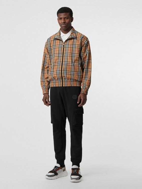Leichte Jacke im Vintage Check-Design (Gelb)