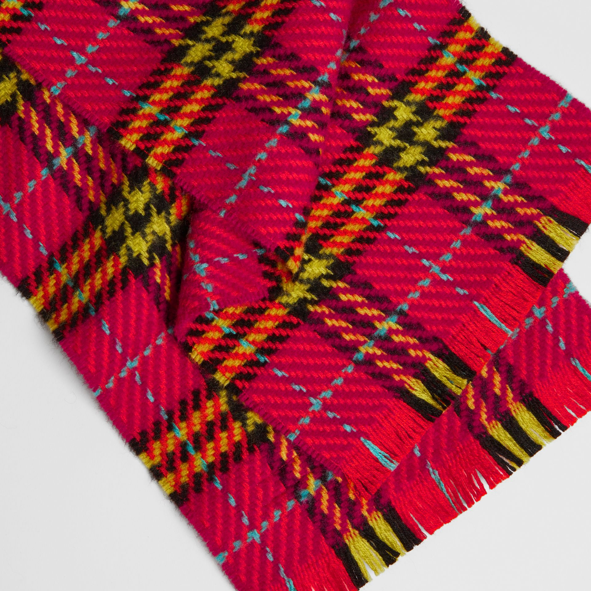 Vintage Check Merino Wool Scarf in Pomegranate Pink | Burberry United States - gallery image 1
