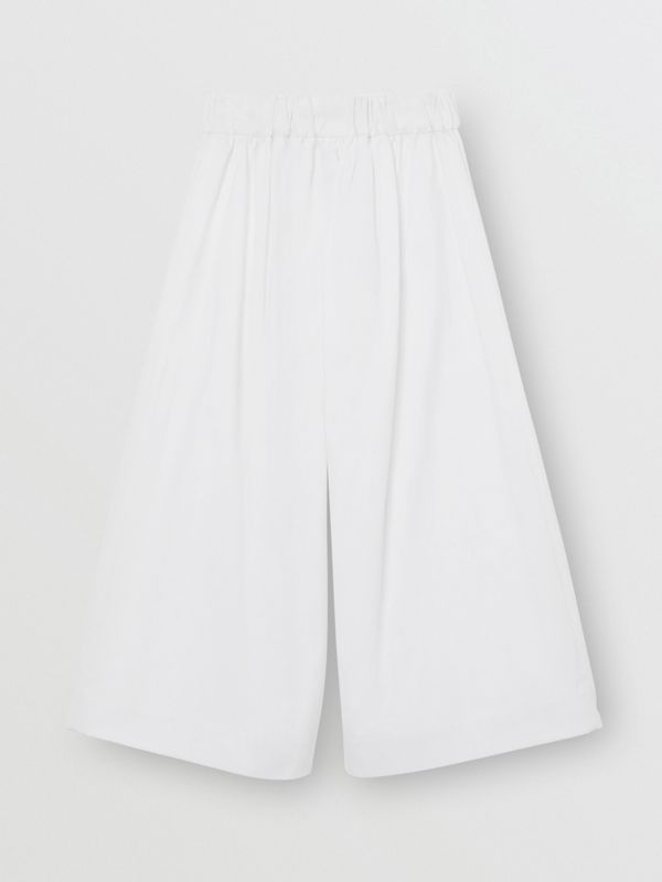Cotton Blend Sailor Trousers in White | Burberry - cell image 3