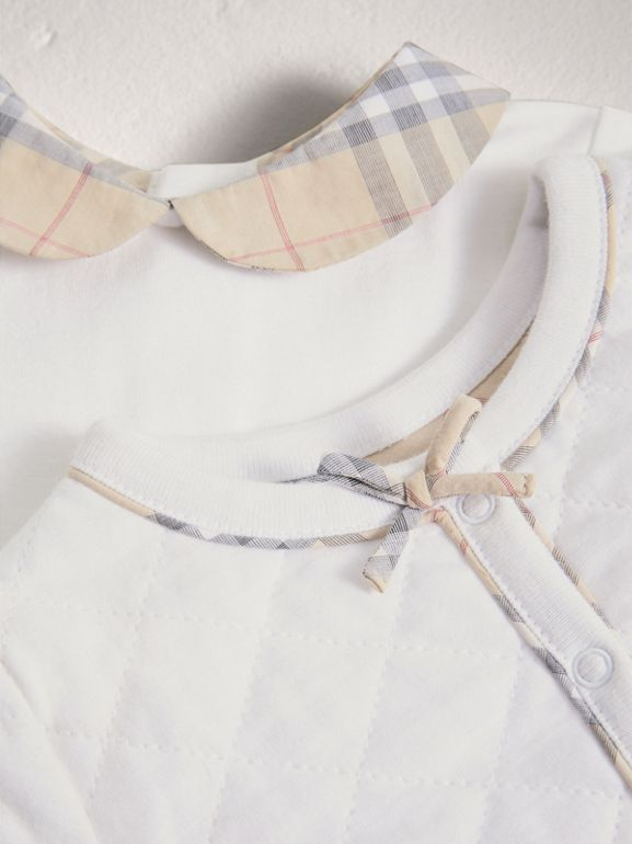 Cotton Four-piece Baby Gift Set in White - Girl | Burberry - cell image 1