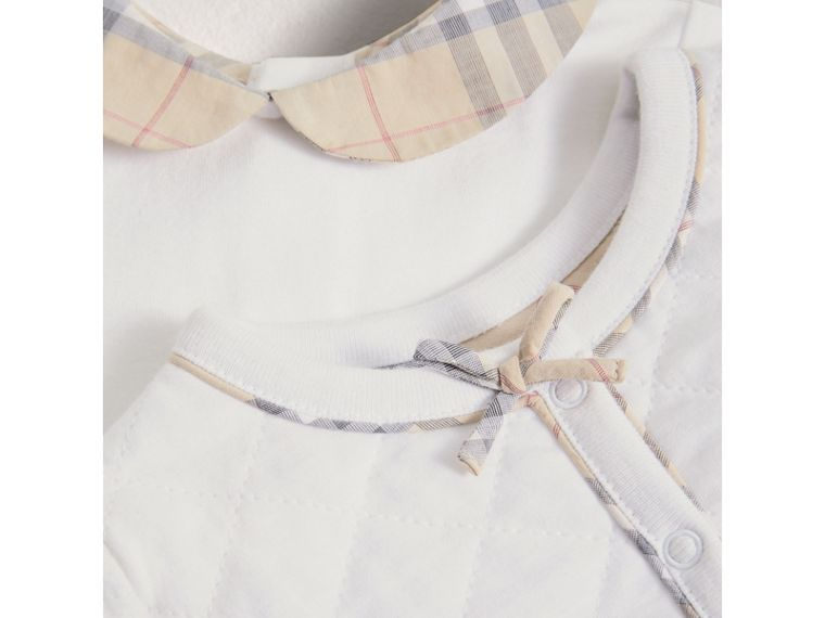 Cotton Four-piece Baby Gift Set in White - Girl | Burberry Singapore - cell image 1