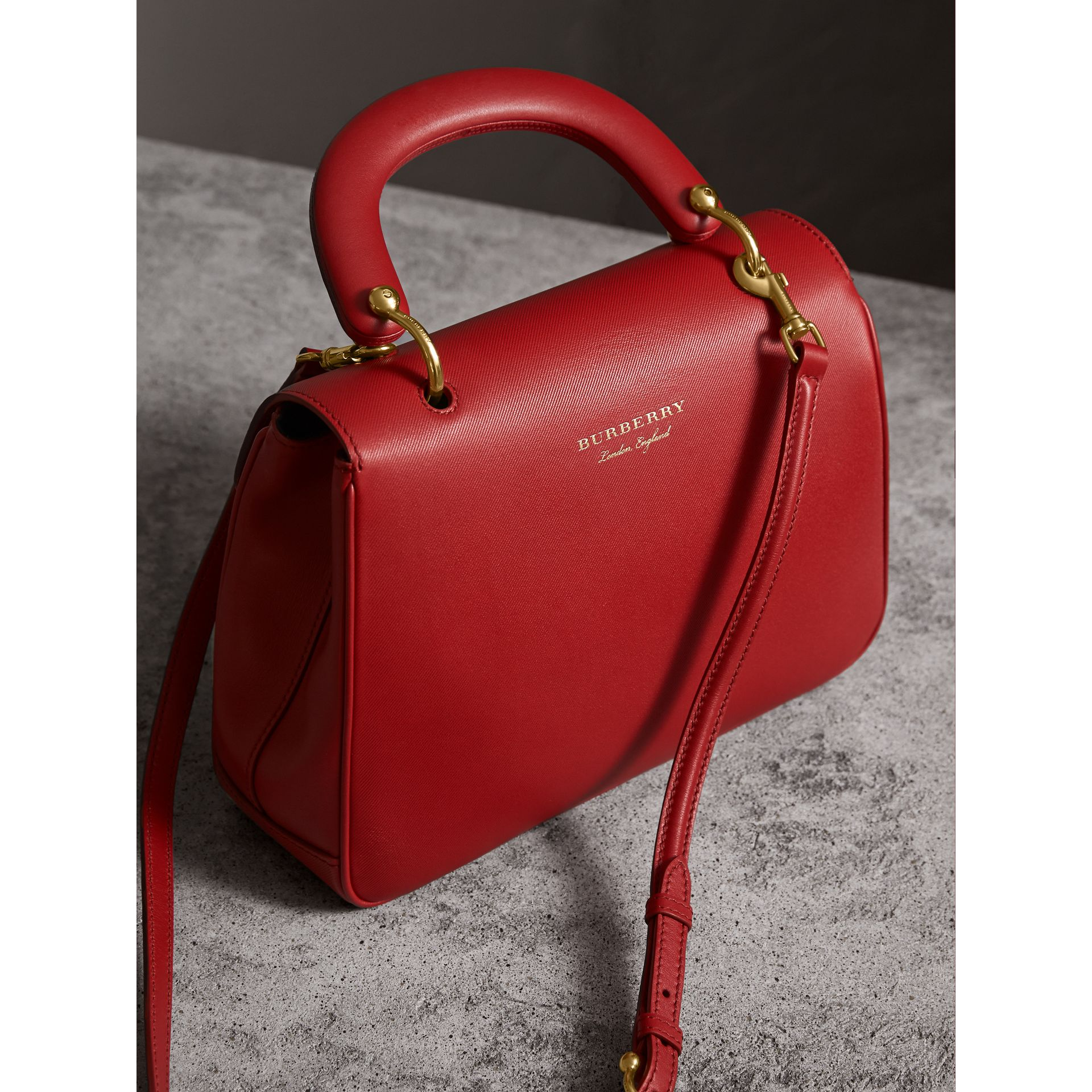 The Medium DK88 Top Handle Bag in Coral Red - Women | Burberry United Kingdom - gallery image 4