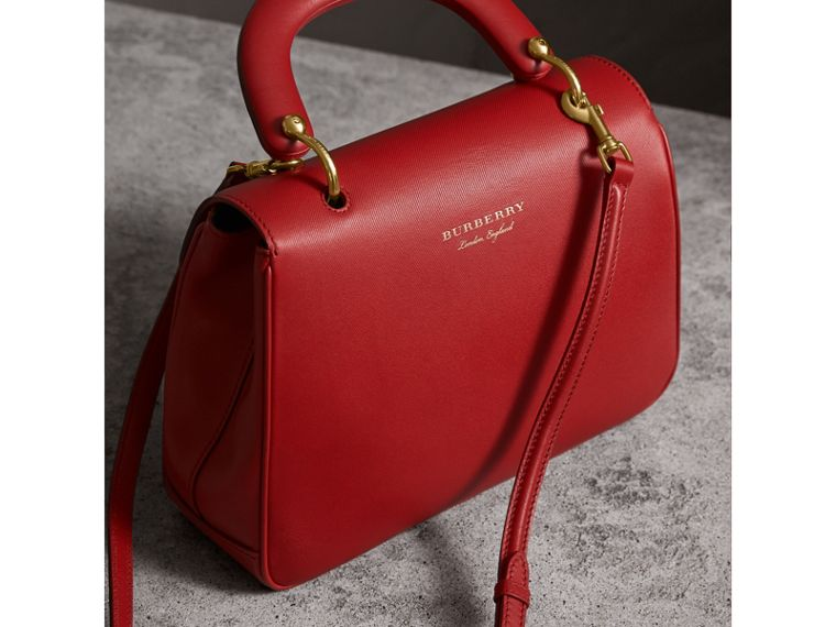 The Medium DK88 Top Handle Bag in Coral Red - Women | Burberry - cell image 4