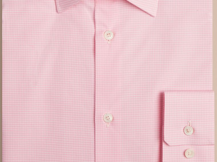 Modern Fit Gingham Cotton Poplin Shirt in City Pink - cell image 1