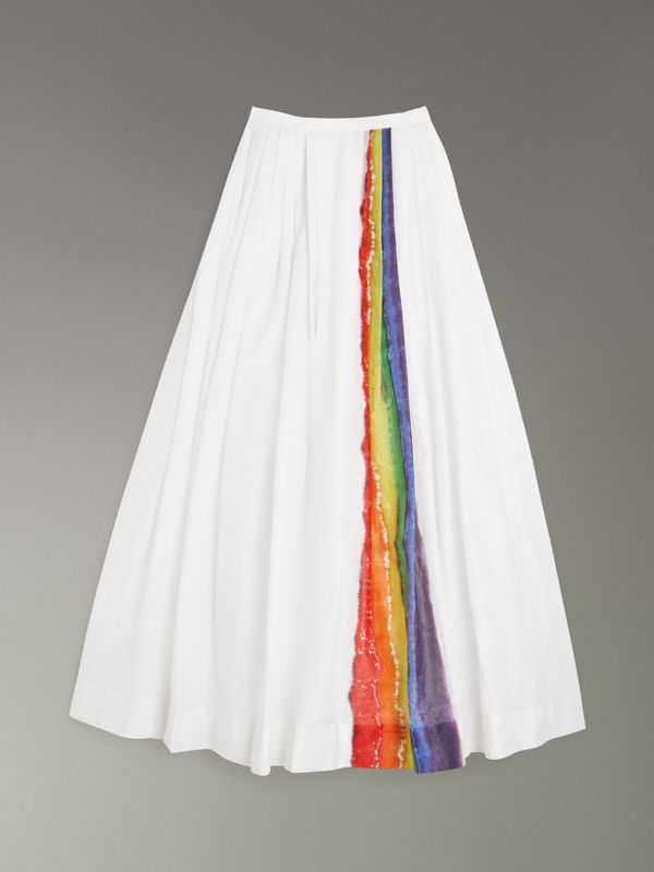 Rainbow Stripe Maxi Skirt - Women | Burberry Singapore - cell image 3
