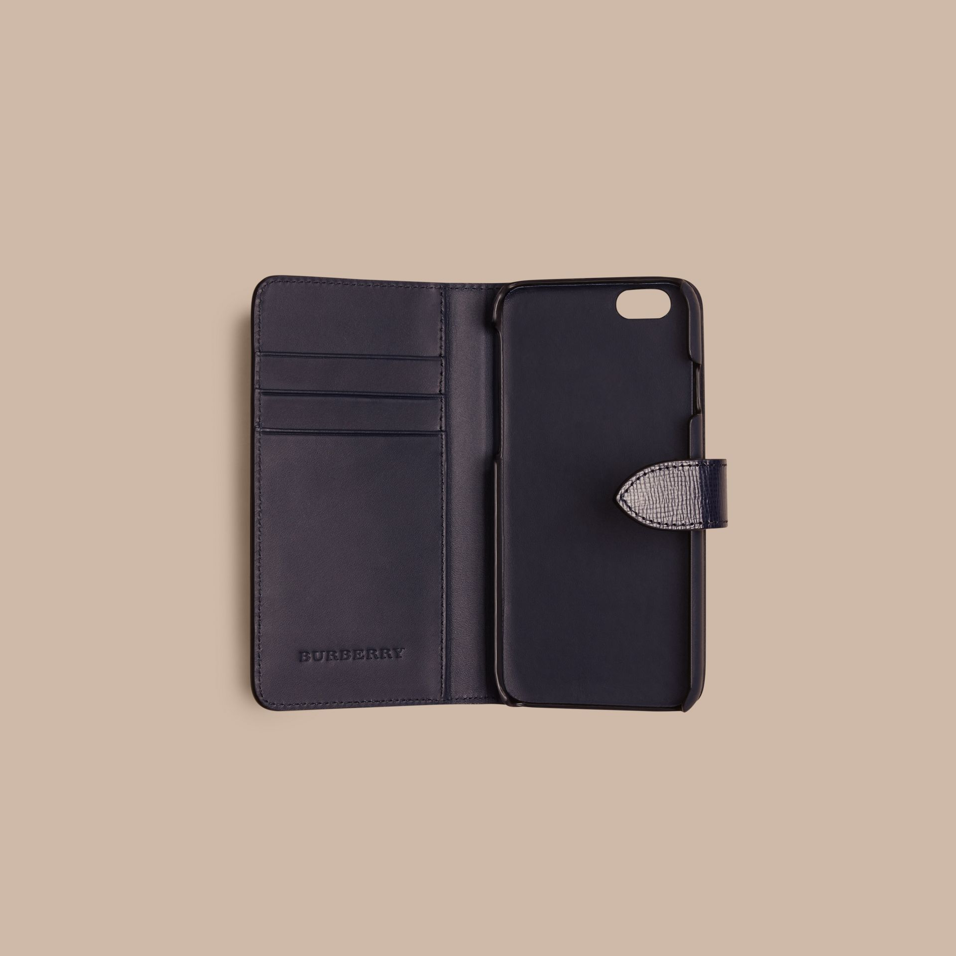 Dark navy London Leather iPhone 6 Flip Case Dark Navy - gallery image 2