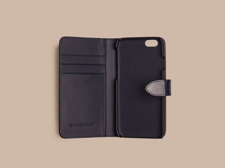 Dark navy London Leather iPhone 6 Flip Case Dark Navy - cell image 1