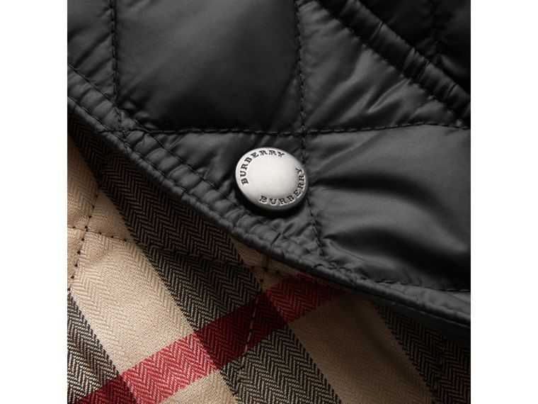 Diamond Quilted Jacket in Black - Boy | Burberry - cell image 1