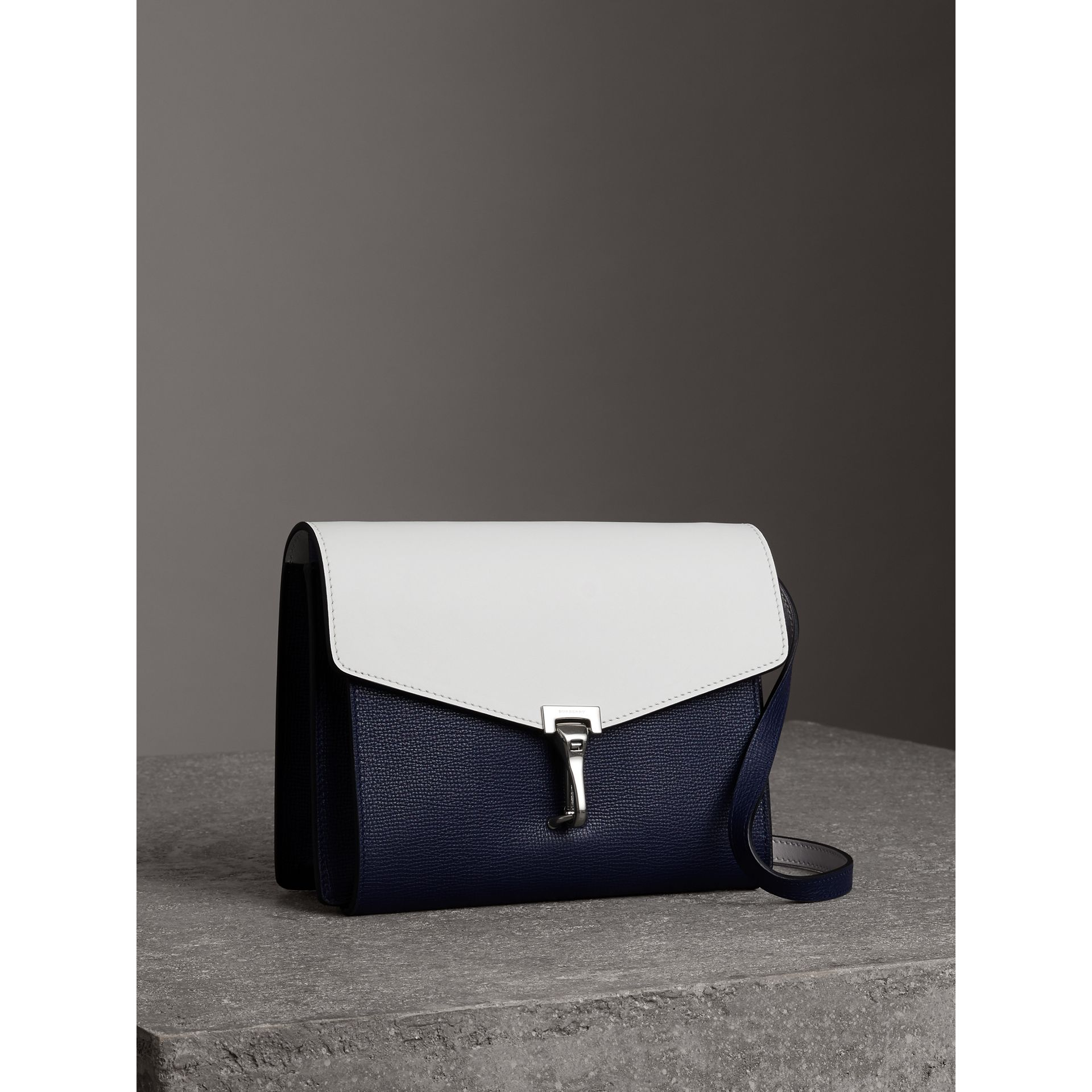 Two-tone Leather Crossbody Bag in Regency Blue/chalk White - Women | Burberry - gallery image 6