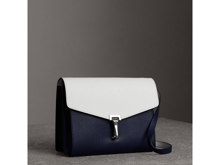 Two-tone Leather Crossbody Bag in Regency Blue/chalk White - Women | Burberry United Kingdom - cell image 4