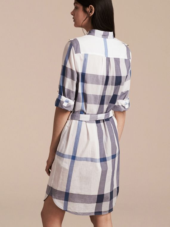 Ink blue Check Cotton Shirt Dress Ink Blue - cell image 2