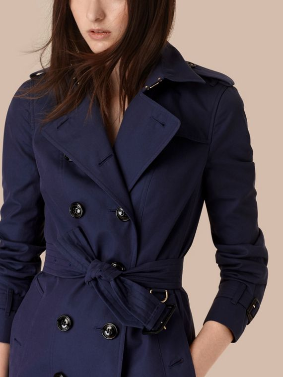 Ink blue Cotton Gabardine Trench Coat Ink Blue - cell image 3