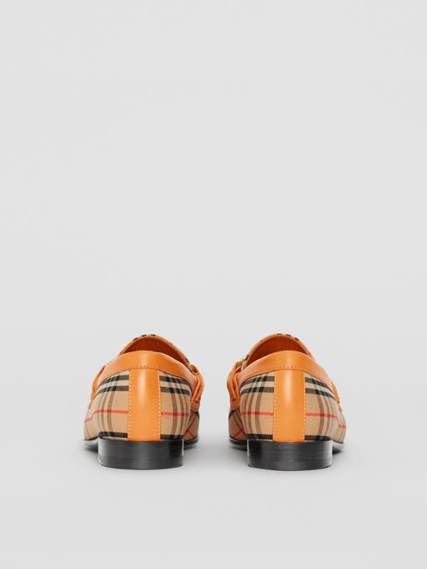 Mocassini The Link con motivo tartan del 1983 (Giallo Orzo) - Donna | Burberry - cell image 3