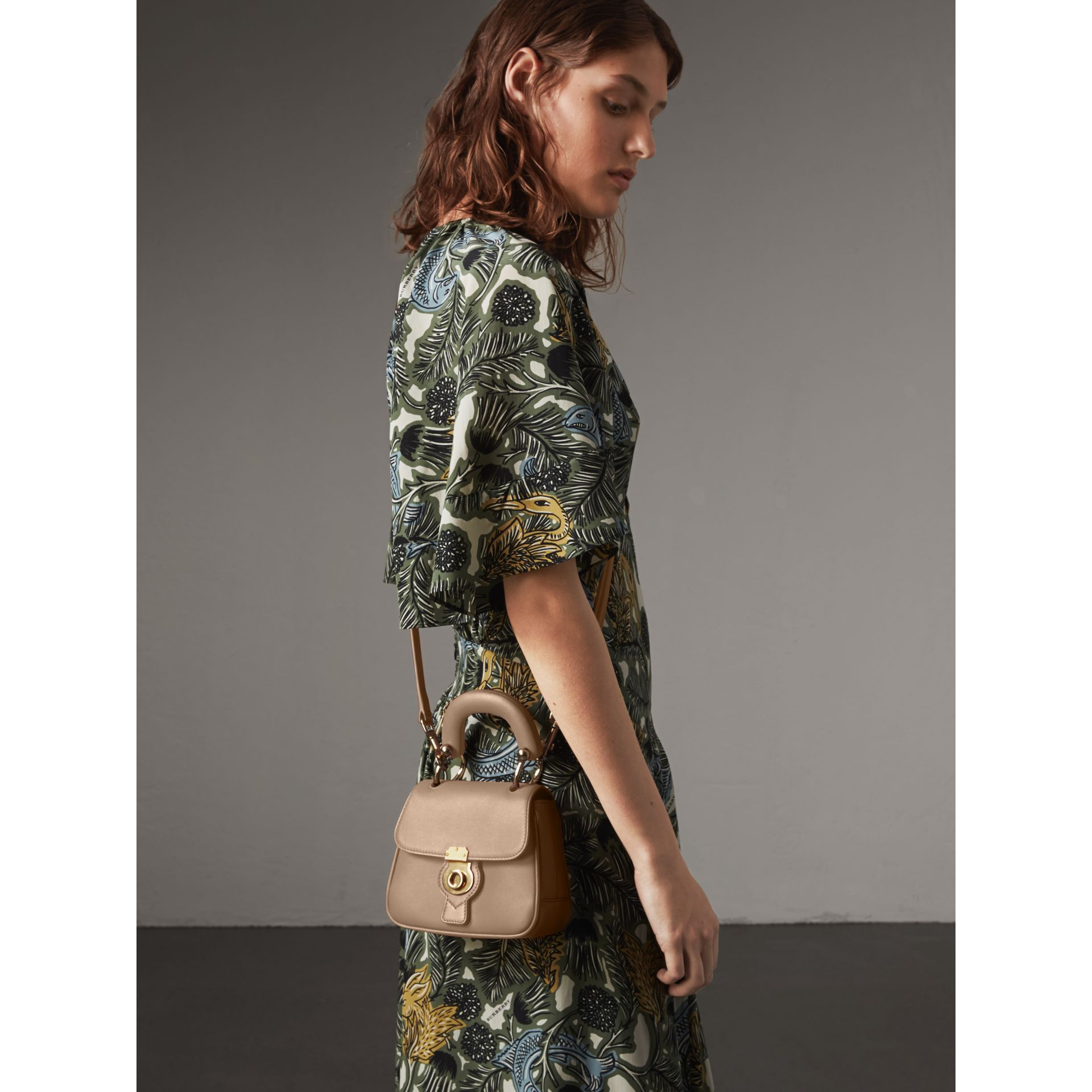 The Mini DK88 Top Handle Bag in Honey - Women | Burberry - gallery image 3
