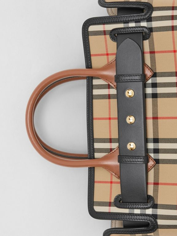 The Small Vintage Check Triple Stud Belt Bag in Archive Beige - Women | Burberry Canada - cell image 1