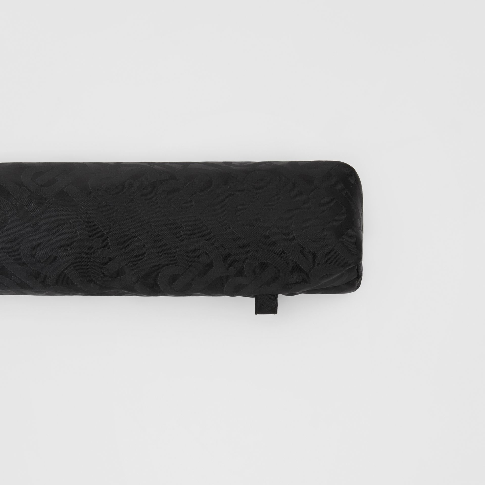 Monogram Print Folding Umbrella in Black | Burberry - gallery image 6