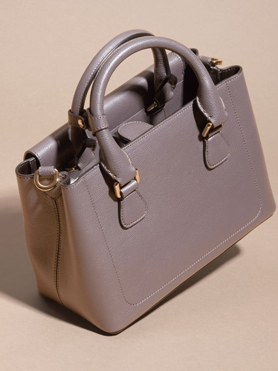 Sepia grey The Small Saddle Bag in Grainy Bonded Leather Sepia Grey - cell image 3