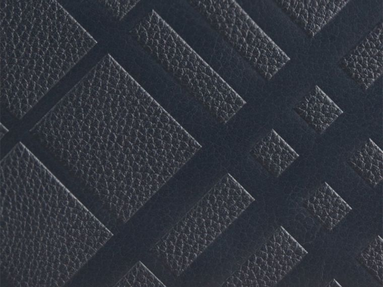 Dark pewter blue Embossed Check Leather Ziparound Wallet Dark Pewter Blue - cell image 1