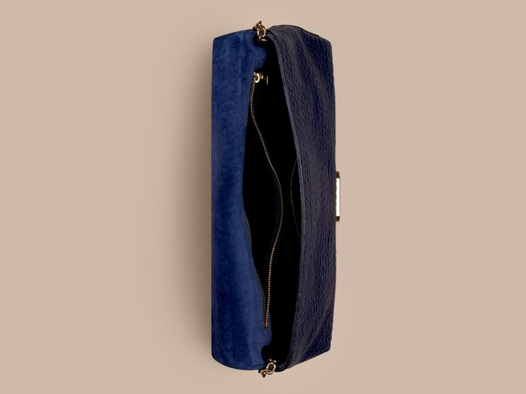 Blue carbon Medium Signature Grain Leather Clutch Bag Blue Carbon - cell image 4